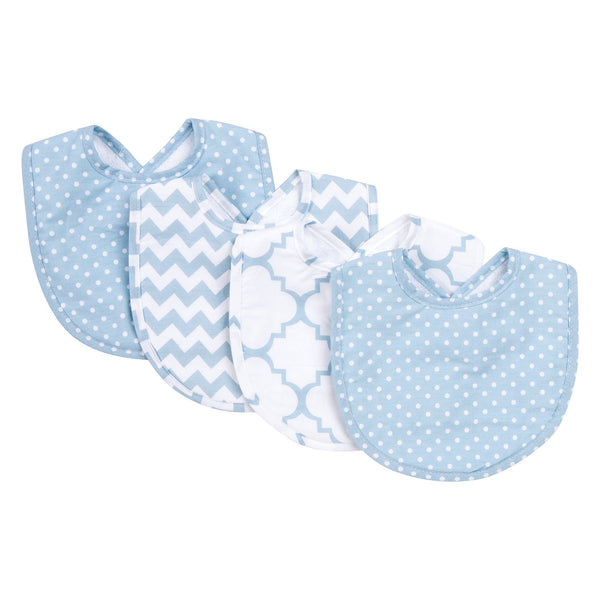 Blue Sky 4 Pack Bib Set-SKY BLUE-JadeMoghul Inc.