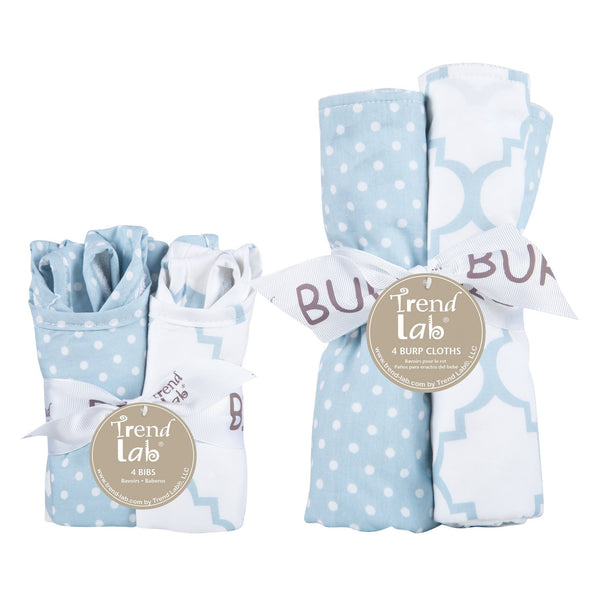Blue Sky 8 Piece Bib and Burp Cloth Set-SKY BLUE-JadeMoghul Inc.
