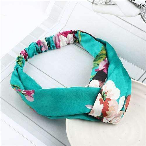 Bohemian Style Elastic Headbands Boho Cross Floral Turban Girls Flower Hairbands Striped Headwrap Hair Accessories For Women-O-JadeMoghul Inc.