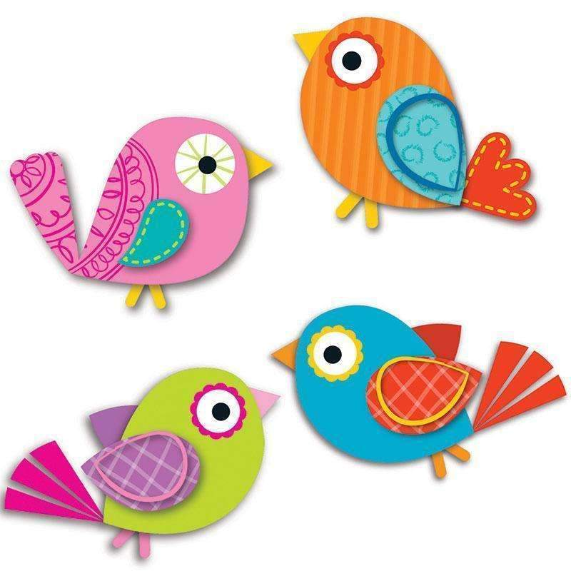 BOHO BIRDS CUT OUTS-Learning Materials-JadeMoghul Inc.
