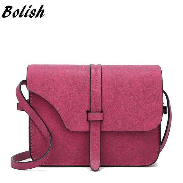 Bolish Fashion Women's Handbag Small Crossbody Bags Vintage Spring Female Shoulder Bag Nubuck Leather Women Bag-red plus-JadeMoghul Inc.
