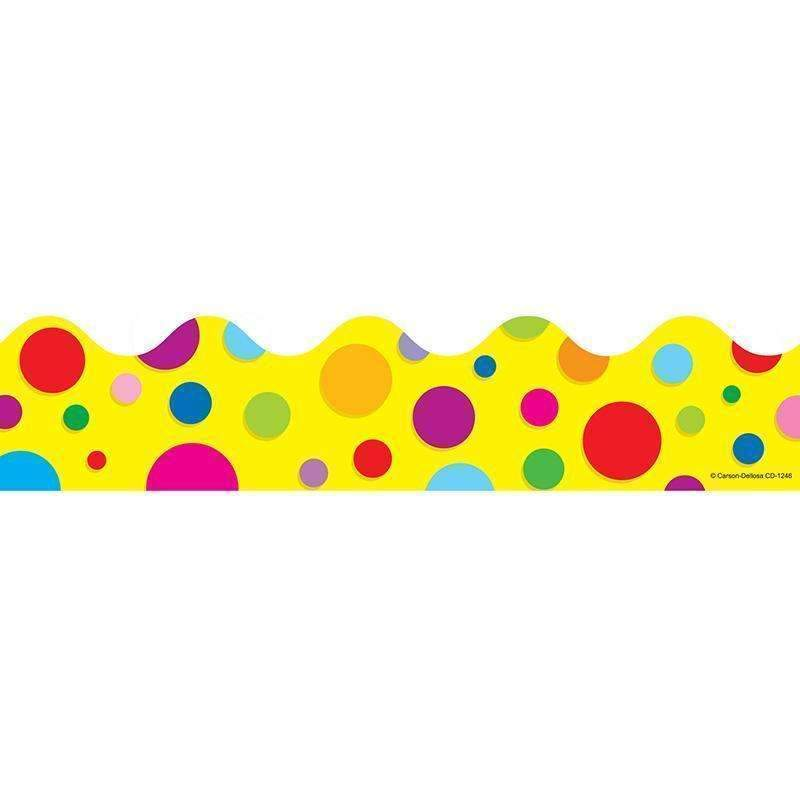 BORDER COLORFUL DOTS SCALLOPED-Learning Materials-JadeMoghul Inc.