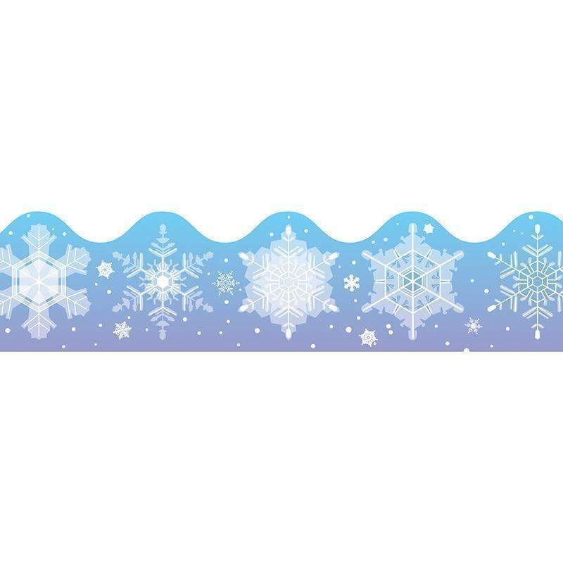 BORDER SNOWFLAKES SCALLOPED-Learning Materials-JadeMoghul Inc.