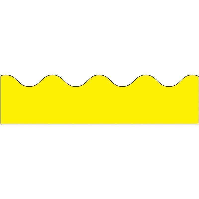 BORDER YELLOW SCALLOPED-Learning Materials-JadeMoghul Inc.