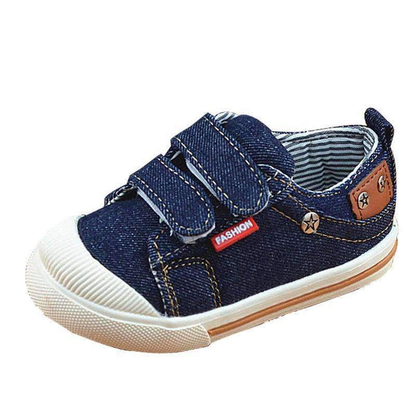Boys Denim Casual Shoes-Blue-5.5-JadeMoghul Inc.