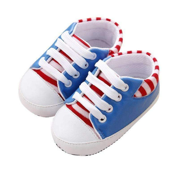 Boys / Girls Striped Canvas Shoes-Blue-3-JadeMoghul Inc.