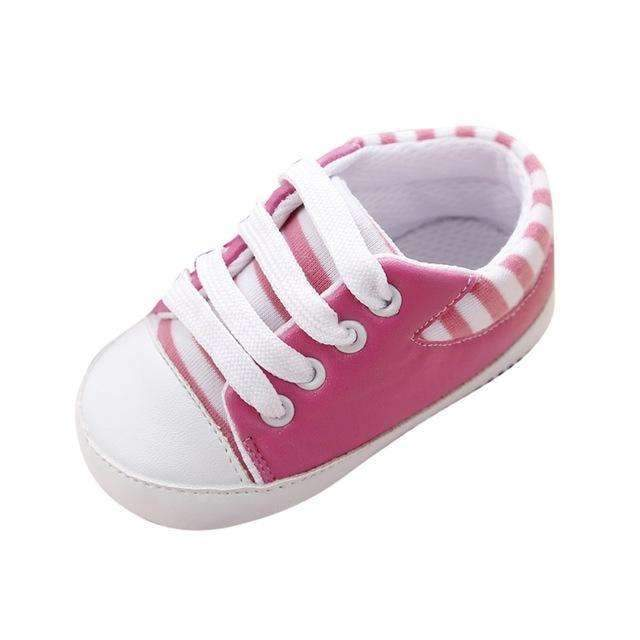 Boys / Girls Striped Canvas Shoes-Pink-3-JadeMoghul Inc.