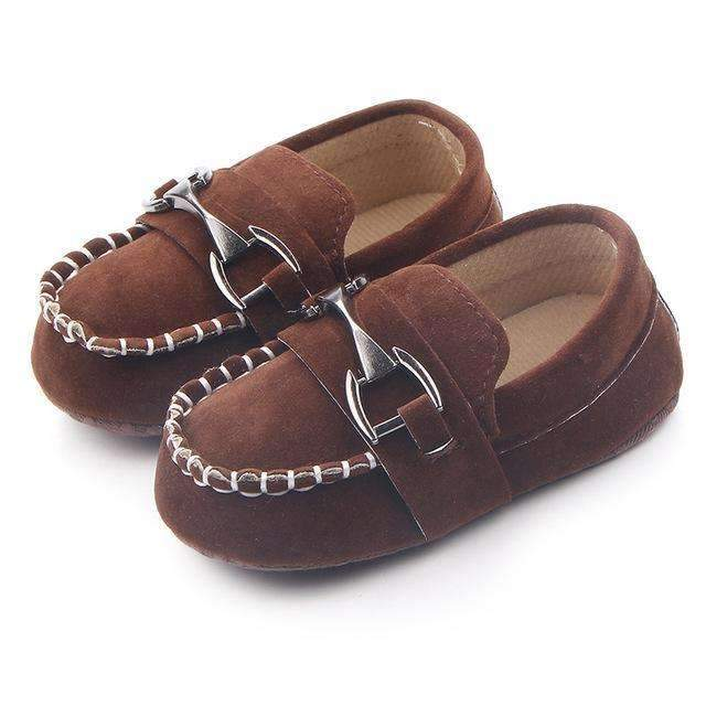 Boys Handsome Suede Buckled Loafers-Brown-1-JadeMoghul Inc.