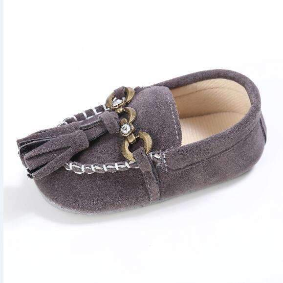 Boys Handsome Suede Buckled Loafers-SH0635H-1-JadeMoghul Inc.