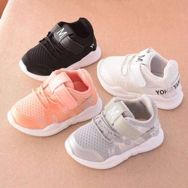 Boys Light Weight Mesh Running Shoes-Pink-6-JadeMoghul Inc.