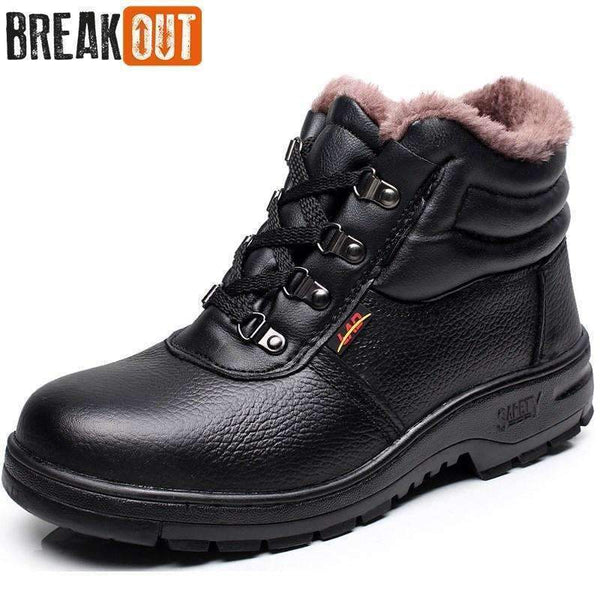 Break Out New Men Winter Boots Snow Boots for Men Ankle Boots Warm with Plush&Fur Work Safety Men Shoes 45 46-Black-5-JadeMoghul Inc.