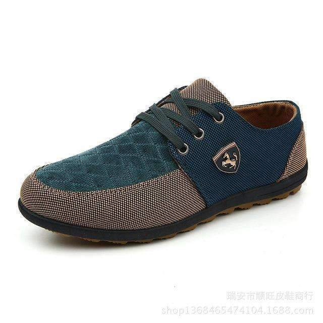 Breathable Swede Canvas Men Shoes-Green-6.5-JadeMoghul Inc.