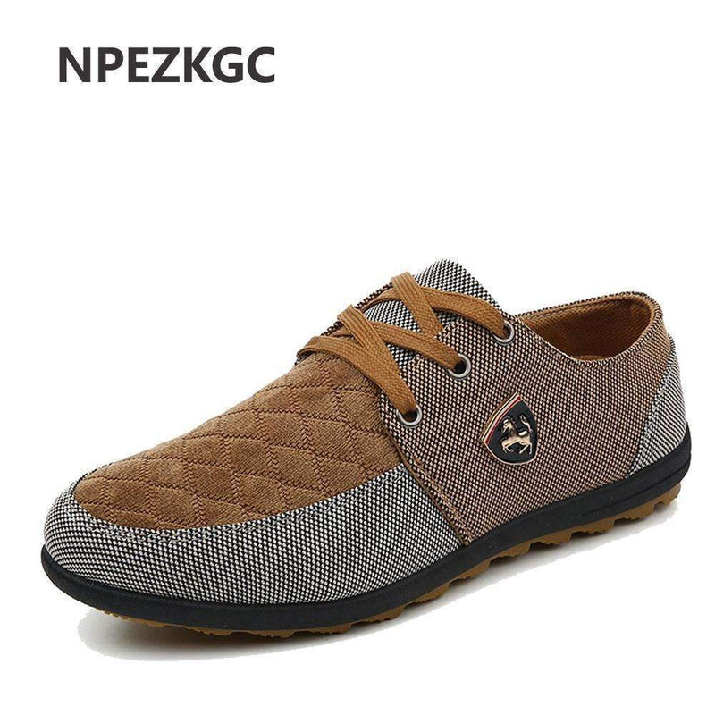 Breathable Swede Canvas Men Shoes-Navy-6.5-JadeMoghul Inc.