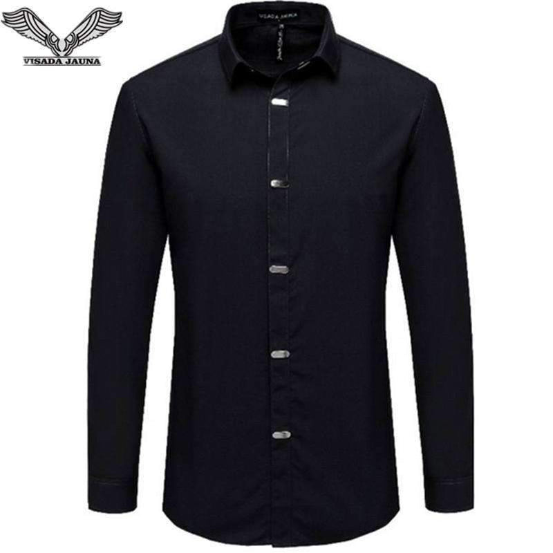 British Style Casual Long Sleeve Slim Fit Shirt-M-China M 50kgto55kg-JadeMoghul Inc.