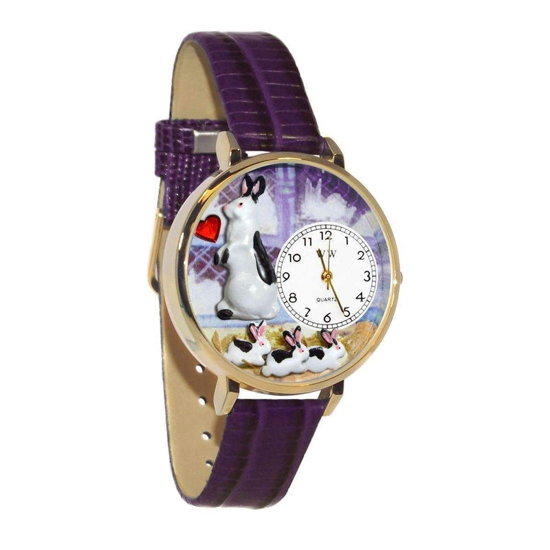 Bunny Rabbit Watch in Gold (Large)-Watch-JadeMoghul Inc.