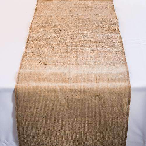 "Burlap Table Runner (90"" - 2.3m long) (Pack of 1)-Wedding Table Decorations-JadeMoghul Inc."