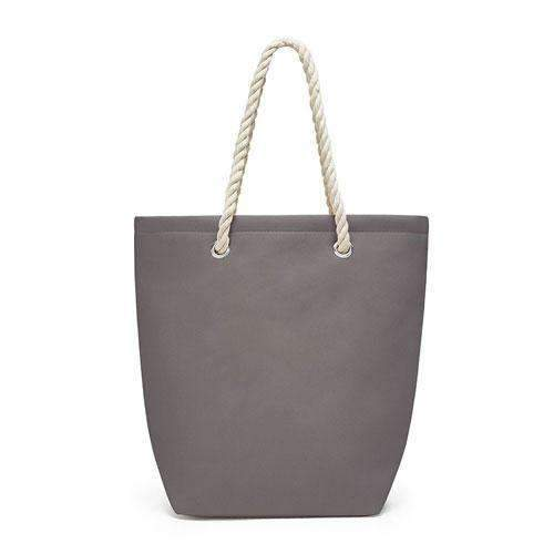 Cabana Tote - Gray (Pack of 1)-Personalized Gifts for Women-JadeMoghul Inc.