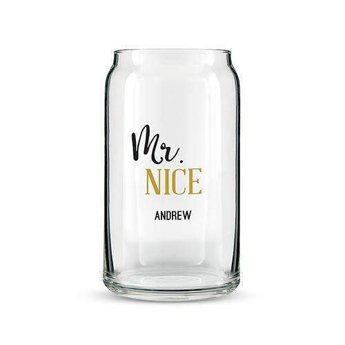Can Shaped Glass Personalized - Mr. Nice Printing (Pack of 1)-Personalized Gifts for Men-JadeMoghul Inc.