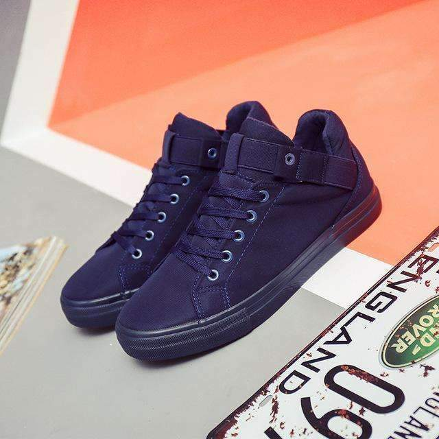Canvas Shoes For Men / Flat Heel High Quality Casual Shoes-Blue-6.5-JadeMoghul Inc.