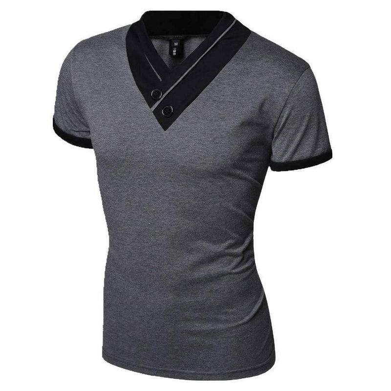 Casual Men T-Shirt / Solid Men T-Shirt-Black-M-JadeMoghul Inc.