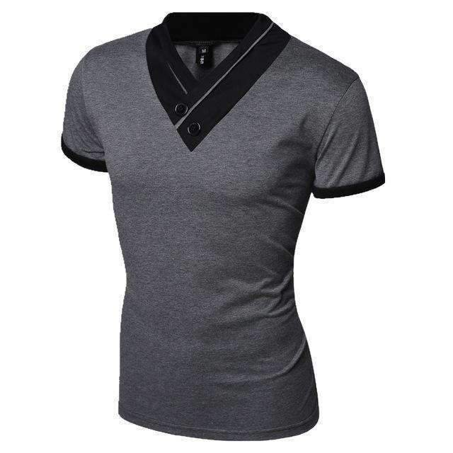 Casual Men T-Shirt / Solid Men T-Shirt-Dark Grey-M-JadeMoghul Inc.