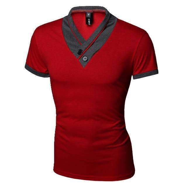 Casual Men T-Shirt / Solid Men T-Shirt-Red-M-JadeMoghul Inc.