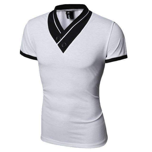 Casual Men T-Shirt / Solid Men T-Shirt-White-M-JadeMoghul Inc.