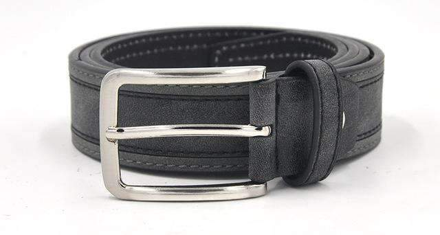 Casual Patchwork Men Belts Designers Luxury Men Fashion Belt Trends Trousers With Three Color To Choose Free Shipping-GreyDarkGrey-100cm-JadeMoghul Inc.