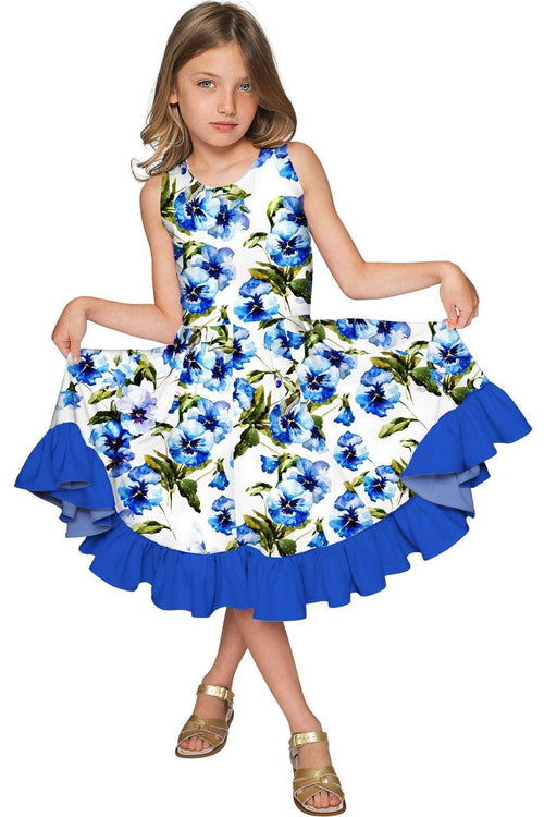 Catch Me Vizcaya Fit & Flare Floral Print Fancy Dress - Girls-Catch Me-JadeMoghul Inc.