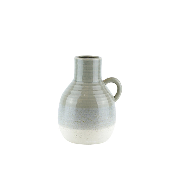 Ceramic Jug with Curved Handle, Large, Muticolor