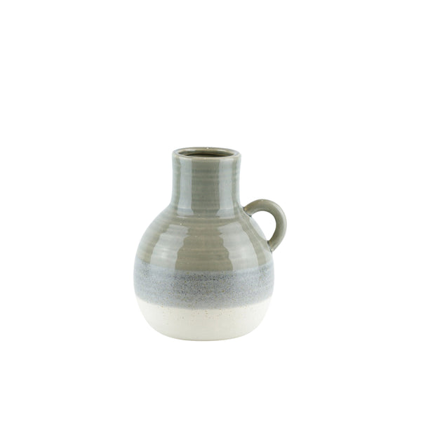 Ceramic Jug with Curved Handle, Small, Muticolor