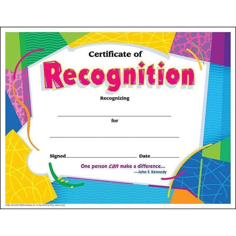 CERTIFICATE OF RECOGNITION COLORFUL-Learning Materials-JadeMoghul Inc.