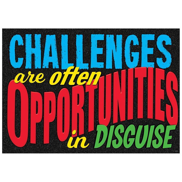 CHALLENGES ARE OFTEN ARGUS POSTER-Learning Materials-JadeMoghul Inc.