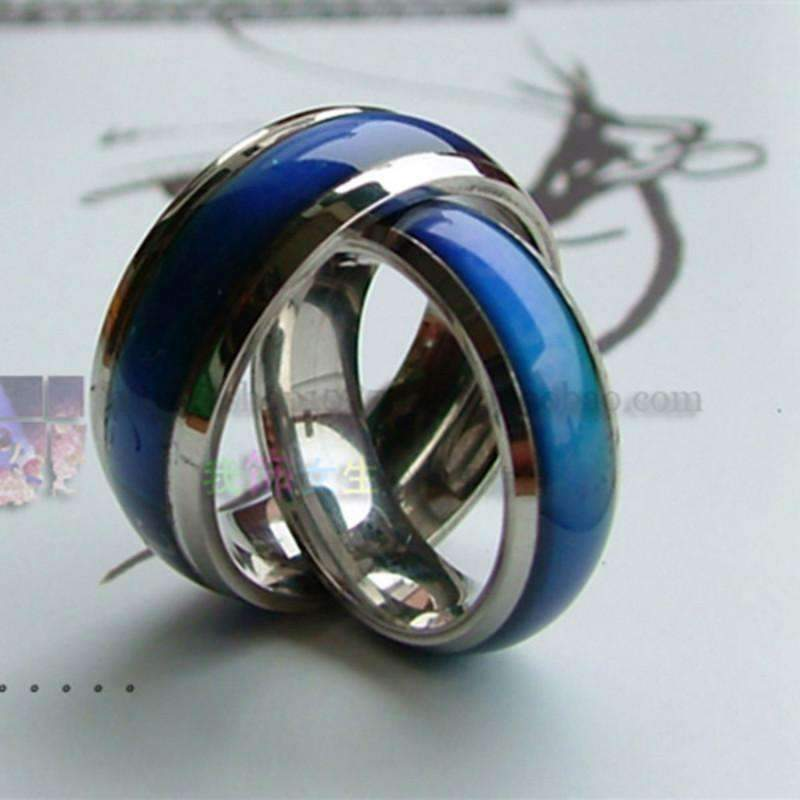 Changing Color Fashion Adjustable Mood Ring Wedding Rings For Men and Women Silver creative hobby for children & couple rings-6-JadeMoghul Inc.