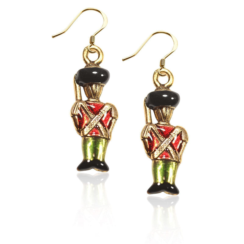Charm Nutcracker Charm Earrings in Gold WW