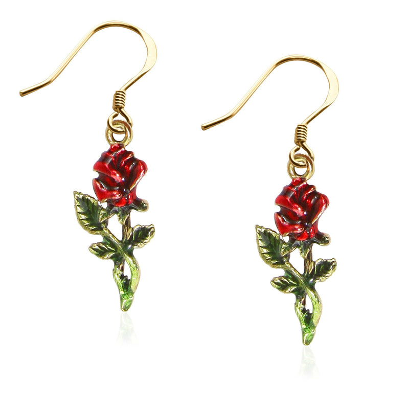 Charm Rose Charm Earrings in Gold WW