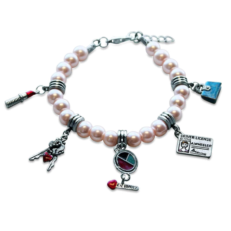 Charm Teen Girl Charm Bracelet in Silver WW
