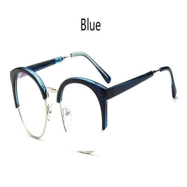 Cheap transparent Spectacle frame Anti-fatigue for cat eyes men's Glasses women Oculos De Grau masculino Retro Vintage eyewear-blue-China-JadeMoghul Inc.