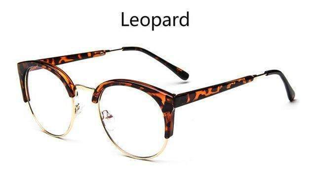 Cheap transparent Spectacle frame Anti-fatigue for cat eyes men's Glasses women Oculos De Grau masculino Retro Vintage eyewear-leopard-China-JadeMoghul Inc.