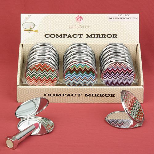Chevron design mirror compacts-Personalized Gifts for Men-JadeMoghul Inc.