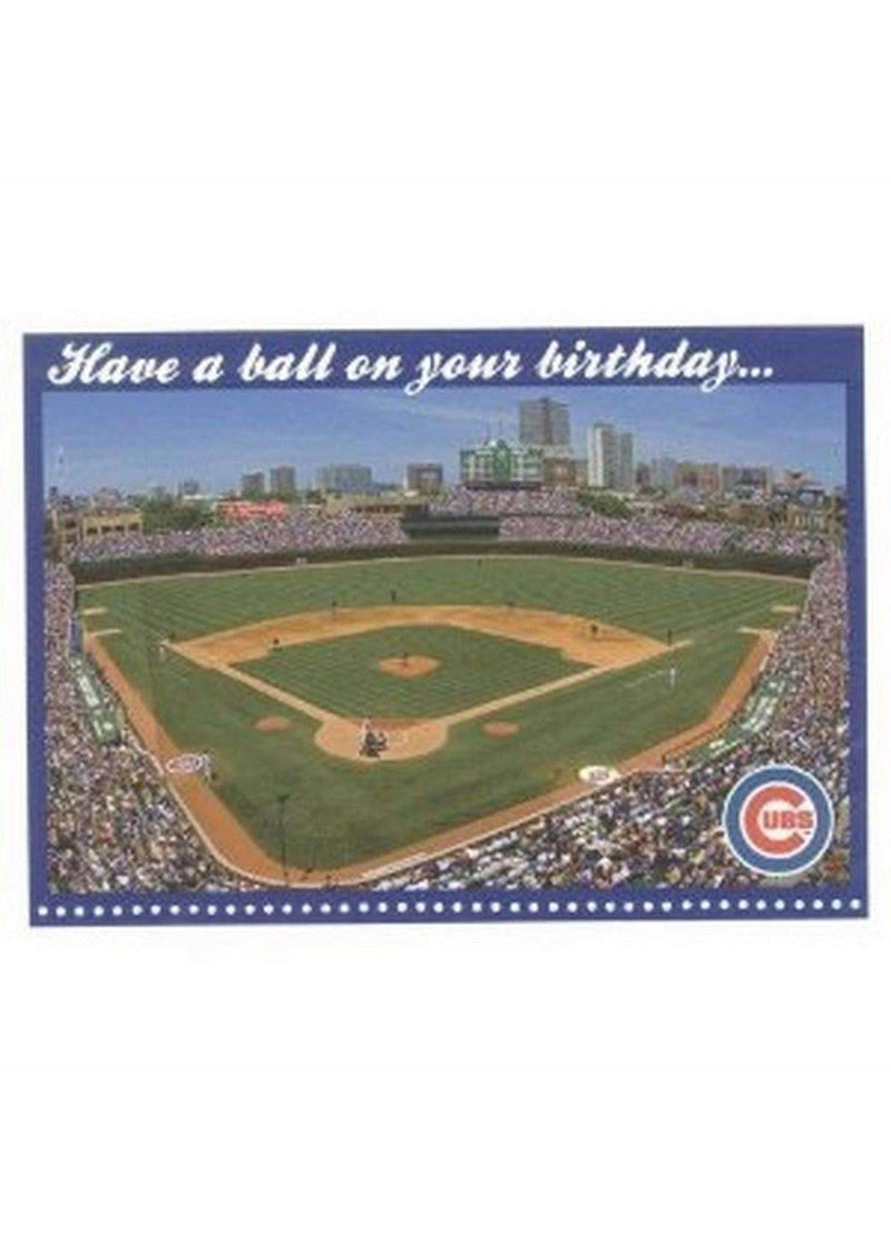 CHI CUBS WRIGLEY B-DAY CARD-Postcards/Greeting Cards-JadeMoghul Inc.
