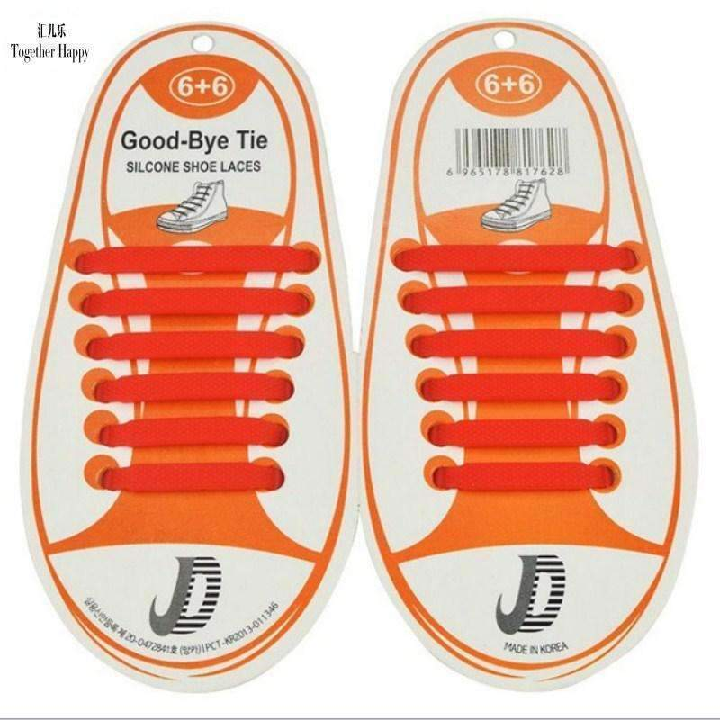 Children No Tie Silica Gel Shoe Laces-Black-JadeMoghul Inc.