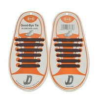 Children No Tie Silica Gel Shoe Laces-Brown-JadeMoghul Inc.