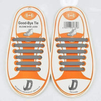 Children No Tie Silica Gel Shoe Laces-Gray-JadeMoghul Inc.