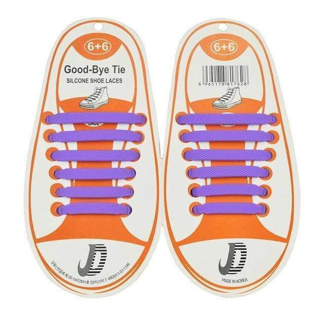Children No Tie Silica Gel Shoe Laces-Purple-JadeMoghul Inc.
