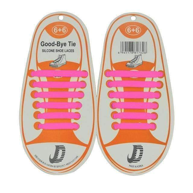 Children No Tie Silica Gel Shoe Laces-Rose Red-JadeMoghul Inc.