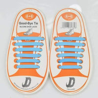 Children No Tie Silica Gel Shoe Laces-Sky Blue-JadeMoghul Inc.