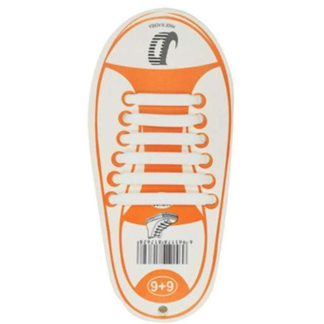 Children No Tie Silica Gel Shoe Laces-White-JadeMoghul Inc.