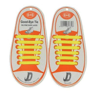 Children No Tie Silica Gel Shoe Laces-Yellow-JadeMoghul Inc.