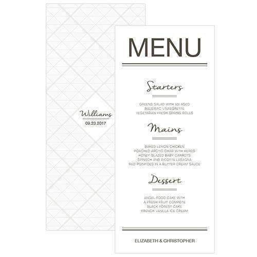 City Style Menu Card Charcoal (Pack of 1)-Reception Stationery-Charcoal-JadeMoghul Inc.